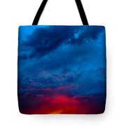 Fiery Sunset Tote Bag