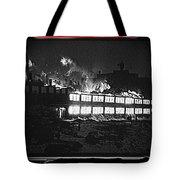 Film Homage Chris Marker La Jetee 1962 Winter Fire Collage Aberdeen South Dakota 1965-2013 Tote Bag