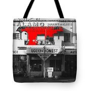 Film Homage Mickey Rourke Harley Davidson And The Marlboro Man 1991 Five Points Alamo Apartments Tote Bag