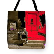 Film Homage Sins Of Passion 1937 Russell Lee Fsa Tower Minnesota 1937-2010 Sepia Toned Color Added Tote Bag