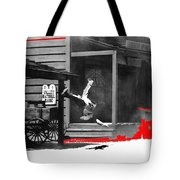 Film Noir Charles Bronson Death Wish 1974 Stunt Man Old Tucson Arizona 1968 Color Added 2012 Tote Bag