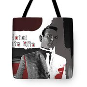 Film Noir David Janssen The Fugitive Santa Rita Hotel Front Xmas Tucson 1963 Color Added 2009 Tote Bag
