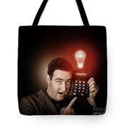 Financial Business Man With Money Idea Tote Bag