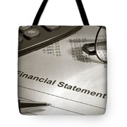 Financial Statement On My Desk Tote Bag