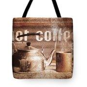 Fine Art Coffee Shop Tin Sign Insignia Tote Bag