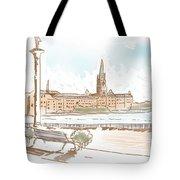 Fine Art Landscape Sketch Of Stockholm Sweden  Tote Bag