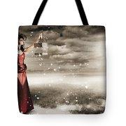 Fine Art Photo Of A Beautiful Winter Fashion Woman Tote Bag