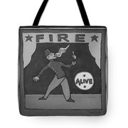 Fire Eater In Black And White Tote Bag