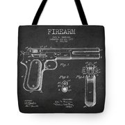 Firearm Patent Drawing From 1897 - Dark Tote Bag by Aged Pixel