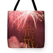 Fireworks Exploding Over Salem's Friendship Tote Bag