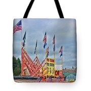 Fireworks Stand Tote Bag by Cathy Anderson