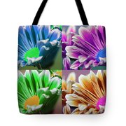 Firmenish Bicolor Pop Art Shades Tote Bag