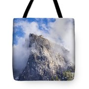 First Snow Of The Season In Yosemite Tote Bag