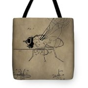 Fishing Fly Patent Tote Bag