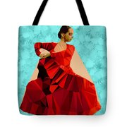 Flamenco Dancer In Spain Tote Bag