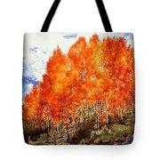 Flaming Aspens 2 Tote Bag