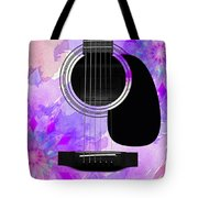 Floral Abstract Guitar 17 Tote Bag