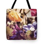 Floral Art V Tote Bag