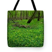 Floral Forest Floor Tote Bag