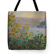 Flower Beds At Vetheuil Tote Bag