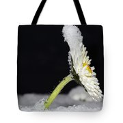 Flower With Snow Tote Bag