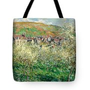 Flowering Plum Trees Tote Bag