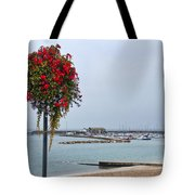 Flowers Along The Seafront Tote Bag