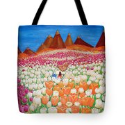 Flowers And Fields Alive With Thy Joy Tote Bag