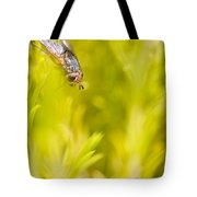 Fly Insect In Amongst A Flurry Of Yellow Leaves Tote Bag