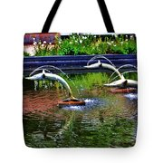 Flying Dolphins Tote Bag