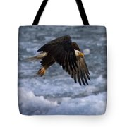 Flying Over Ice Tote Bag