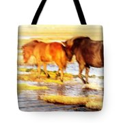Our Whole Life We Just Follow The Stream  Tote Bag