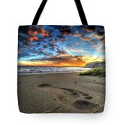 Foot Print In The Sand Tote Bag
