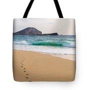 Footprints To The Ocean Tote Bag