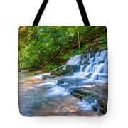 Forest Stream And Waterfall Tote Bag