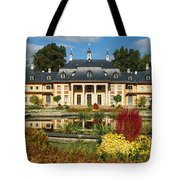 Formal Garden In Front Of A Castle Tote Bag