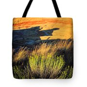 Fossil Beds And Grass Tote Bag