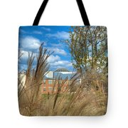 Founders Hall Through The Grasses Tote Bag