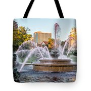 Fountain In The Pink Tote Bag