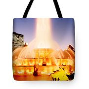 Fountain Lit Up At Dusk, Buckingham Tote Bag