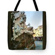 Fountain Of The Four Rivers Tote Bag