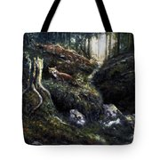 Fox In The Wood Tote Bag