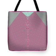 Fractal 28 Pink Gingham Shirt Tote Bag