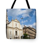 Franciscan Church Of Pest In Budapest Tote Bag