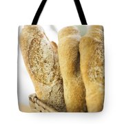 French Baguette In Basket Tote Bag