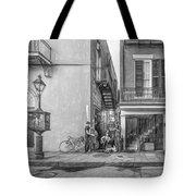 French Quarter Trio - Paint Bw Tote Bag