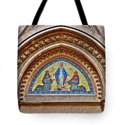Fresco In Front Of Saint Anthony's Church In Istanbul-turkey  Tote Bag