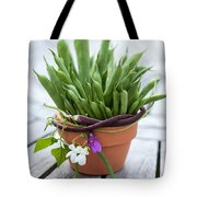 Green Beans In Pot Tote Bag