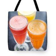 Fresh Orange Carrot And Watermelon Fruit Juice Tote Bag