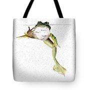 Frog On Waterline Tote Bag